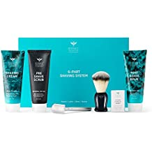 Bombay Shaving Company Complete Shaving Kit (Razor,Blades, Imitation Badger Brush, Scrub, Cream, Balm)
