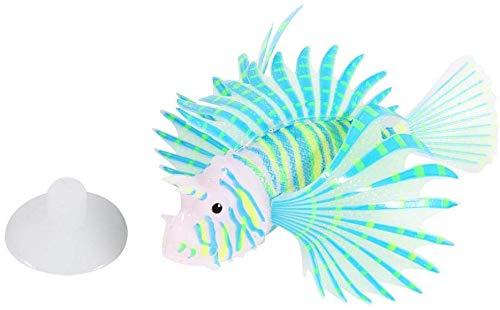 HEEPDD León Artificial Que Brilla intensamente Luminoso Peces Falso Acuario Tanque de Peces Paisaje Adorno Resplandor simulación decoración Animal (Azul)