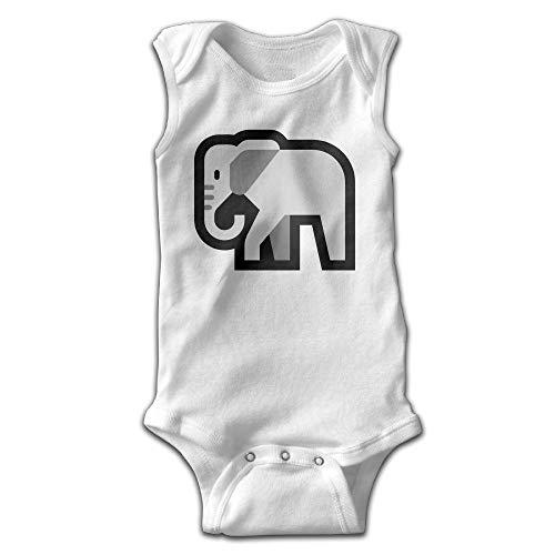 Natasha Scott Ärmellose Onesies des niedlichen Emoji Elefanten gehenden Babys (Frauen Onesies Niedlichen)
