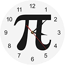 Vandelkt Number Math Wall Clock The Clock Geek Nerd Math Chic Reloj De Pared Reloj para Math Lover Regalo para Maestro