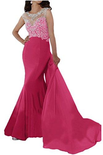 Victory Bridal 2015 Neu Herrlich Festliche Abendkleider Damen Lang Perlen Pailletten Hundkragen Ballkleider Partykleider Pink