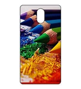 Happoz colour pencils Lenovo Vibe P1m back case Mobile Phone Back Panel Printed Fancy Pouches Accessories Z646