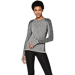AURIQUE Camiseta Deportiva Mujer, Gris (Grey Marl), 40 (Talla del fabricante: M)
