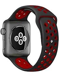 Bangcool Manzana Correa de Reloj Silicona Suave Correa de Reloj para Apple Watch Series 3/2/1