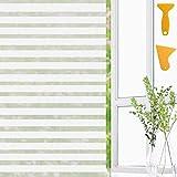 Defrsk Frosted Window film privacy, anti-UV, satinato a strisce finestra adesivo termico riflettente pellicola autoadesiva 2Tools Office bagno soggiorno casa decorazione 45* 400cm