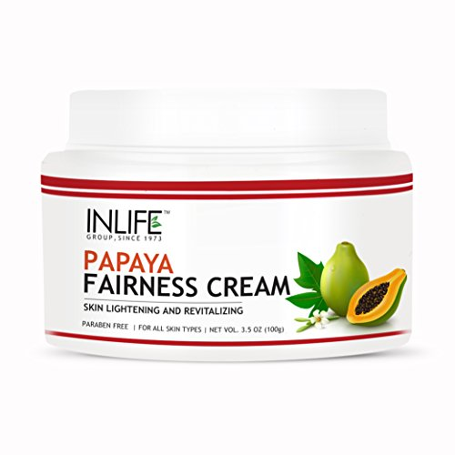 Inlife Natural Papaya Fairness Moisturizer Cream (100 Gm) Paraben Free Cosmetic For Skin Whitening, Ageing, Wrinkles, Blemish, Tightening & Black Spots