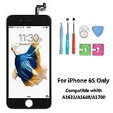Rarlon Display Compatible Für iPhone 6S Schwarz LCD Bildschirm Ersatz Für Touchscreen Glas Reparaturset Ersatz Einschließlich Kostenlose Werkzeug(6S-Schwarz)