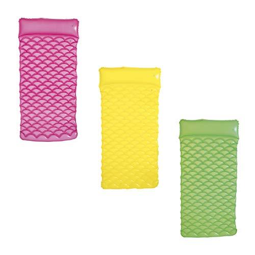 Bestway 44020  - Colchón enrollable, 213 x 86 cm, colores aleatorios verde,rosa,amarillo