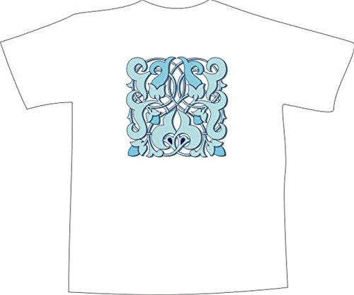 T-Shirt F1143 Schönes T-Shirt mit farbigem Brustaufdruck - TribalBlatt Ornament Mehrfarbig