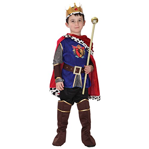 Gazechimp Kinder Jungen Mittelalter König Kostüm Prinzessin Halloween Fancy Dress - M