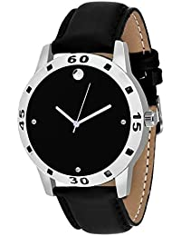 Style Keepers New Arrival Special Collection Black Round Black Dial Black Leather Strap And Display Day Of Week... - B07FBWTC14