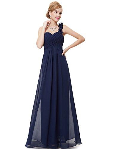 Ever-pretty vestito da donna vestito da sera vestito da sera lungo da abito da sera 46 blu navy