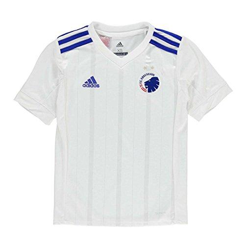 adidas Fck H Jsy y Camiseta de Equitación, Niños, Blanco, 152