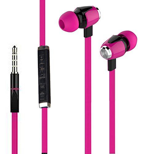 NEW Joy Digital METAL FINISH Universal HiFi Noise-Isolating High Bass In-Ear Piston Earphone with 3.5mm Jack , With Mic - HS-007-PINK