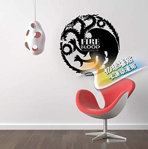 mkqqq135 Vinyl Game of Thrones Wandaufkleber Tempel Gayle Ann Familienwappen Logo Schlafzimmer Wohnzimmer Wandaufkleber