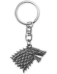 Game of Thrones Schlüsselanhänger Stark, aus Metall silberfarben