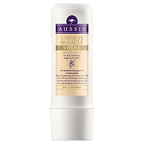 Aussie 3 Minute Miracle Shine Conditioner for Dull Tired Hair, 250 ml