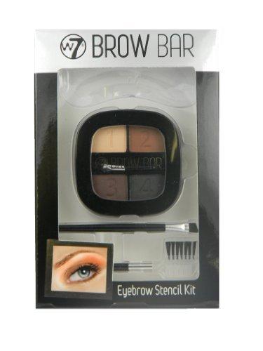 W7 Brow Bar Eyebrow Stencil Kit by W7 Cosmetics BEAUTY (English Manual)