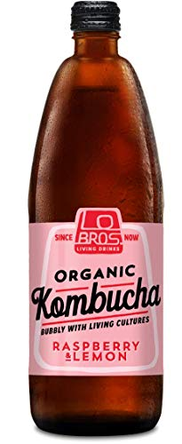 Lo Bros Organic Kombucha Raspberry and Lemon, 6 x 750ml