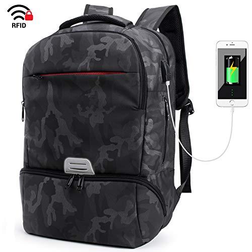 Laptop Rucksack mit USB Ladeanschluss,Tarnung Camouflage Daypack Schultaschen Rucksäcke Schulrucksäcke Schulranzen Taschen für Teenager Mädchen Jungen