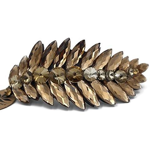 Totoroforet vida es como serie de flores de verano hoja de cristal pasador de pelo Clip//Pinza para/pines --- Elegante Tawny