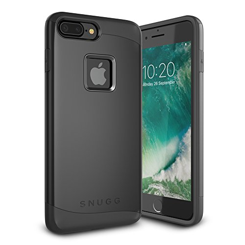 Cover-iPhone-7-Plus-Snugg-Apple-iPhone-7-Plus-Custodia-Case-Scudo-Sottile-Protettiva-Per-Pelle-Nero-Infinity-Series