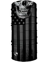 SA Face Shield Bandana Écharpe Masque Blackout American Flag Skull 190b31ddf66