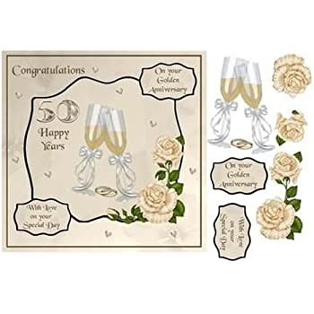 Luxury Wedding Day Topper Set Hunkydory PMIX902 - A Lifetime of Happiness