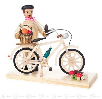Incense il recipiente collettore del fungo dell'uomo con altezza di larghezza x della bicicletta della (Piega Funghi)