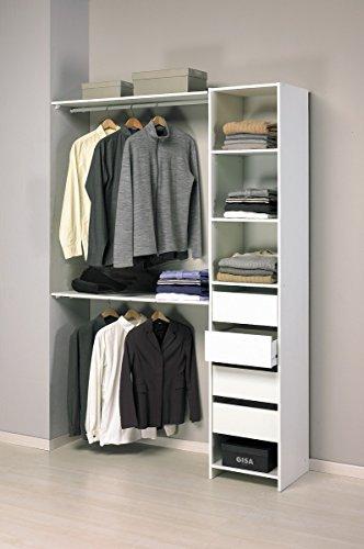 Abitti Kit Armario ropero Blanco Gran Capacidad Dormitorio