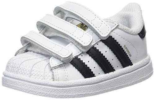 uk availability be203 a9915 adidas Superstar CF I, Zapatillas Unisex bebé, Blanco Core Black Footwear  White 0