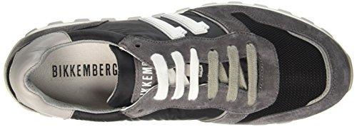 BIKKEMBERGS Herren Numb-Er 856 Niedrige Sneaker Blau (Blue/Grey)