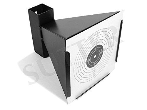 Preisvergleich Produktbild Kugelfang mit Trichter K750 für 14x14cm Zielscheiben * Aus Metall * Scheibenkasten für Luftgewehr Luftpistole