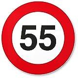 DankeDir! 55. Geburtstag Kunststoff Schild (20 x 20 cm), Geschenk 55. Geburtstag Bester Freund/Freundin, Geschenkidee Geburtstagsgeschenk 55ten Geschenk 55er Geburtstagsparty