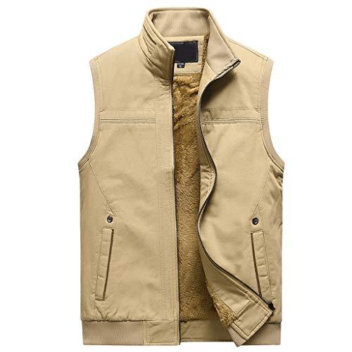 L-4XL ODRD Herren Anzüge -Männer Casual Verdicken Warme Zipper ärmellose Weste Outwear -Jacke Blazer Anzugweste Jacket Anzugjacke Herrenanzug Bomberjacke Lederjacke Herrenjacke