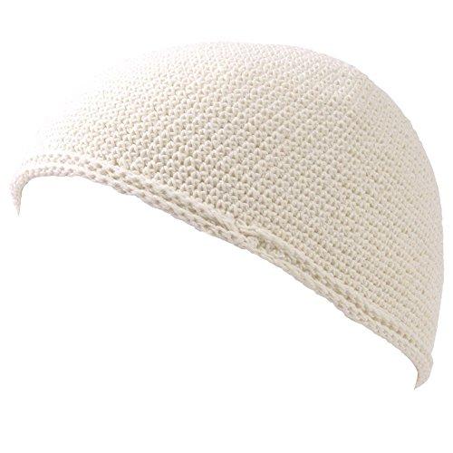 Casualbox Herren Schädel Mütze Islam Beanie Hut Hand gemacht fest Mode Weiß