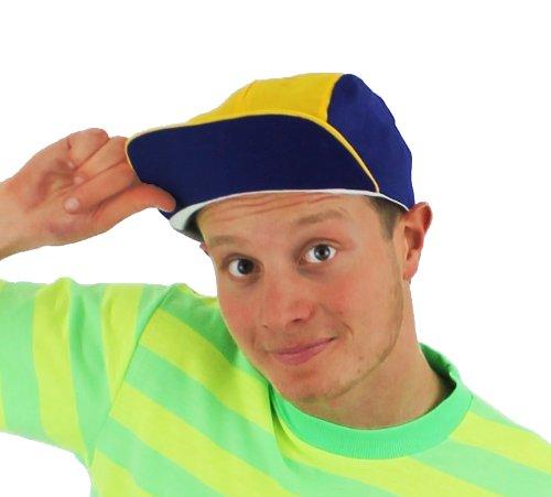 Blau-gelbe Retro-Baseball-Kappe, die an die 90-er erinnert. Retro Snapback Hats