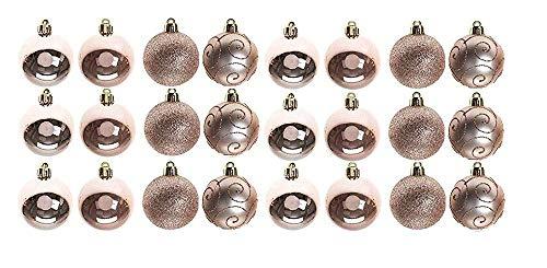Toyland pms - set di 24 palline in pvc, 6 cm, colore: oro rosa