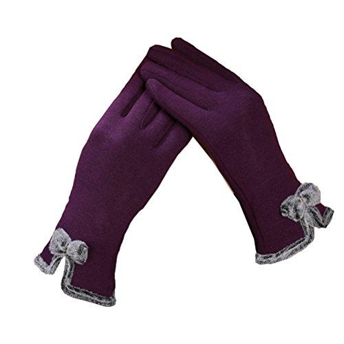 TTD Guantes de pantalla táctil para mujer guantes Guantes Guantes de exterior-Púrpura