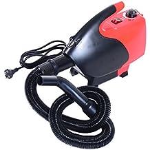 Secador Pelo Perros y Mascotas Potencia 2600W Φ26x40cm 43-65 ℃ Rojo y Negro NUE