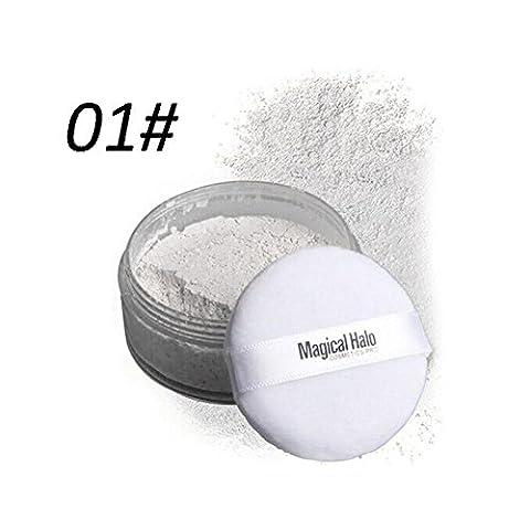 Lovely House Finish Powder Face Loose Powder Translucent Smooth Setting Foundation Makeup (1#)
