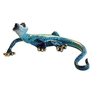 Aljec Medium Blue Speckled Gecko, Metal 23 x 15 x 8 cm
