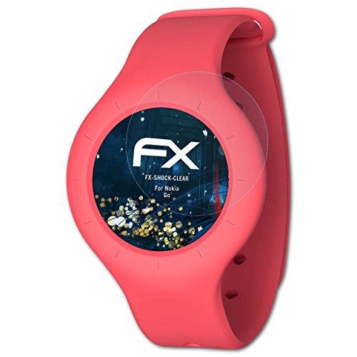 atFoliX Schutzfolie kompatibel mit Nokia Go Panzerfolie, ultraklare & stoßdämpfende FX Folie (3X)
