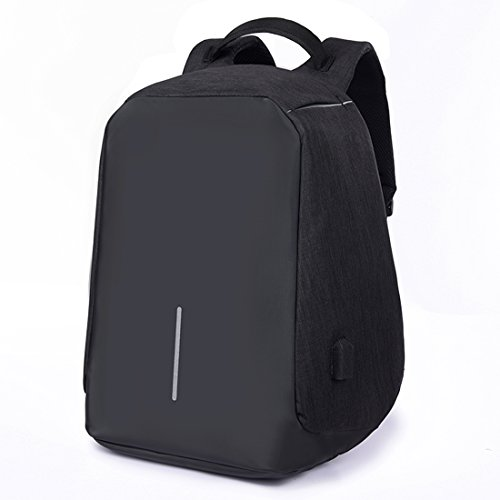 SUZone Zaino multifunzionale per business e computer portatili, di grandi dimensioni, all'aperto, viaggi, trekking, borsa a tracolla, zaino con porta di ricarica USB, donna Uomo, Black