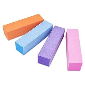 NAILFUN 4 Blocs Polissoirs - Différentes Couleurs