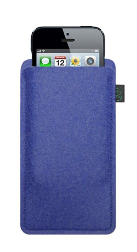 Krings Fashion - Custodia in feltro per Apple iPhone 5 Filzfarbe orange Filzfarbe blau