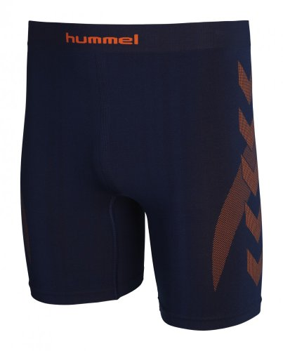 Hummel Baselayer tights Unterwäsche Dark denim/ Short cking orange, Größe Hummel:XL/XXL (Tights Denim-shorts)