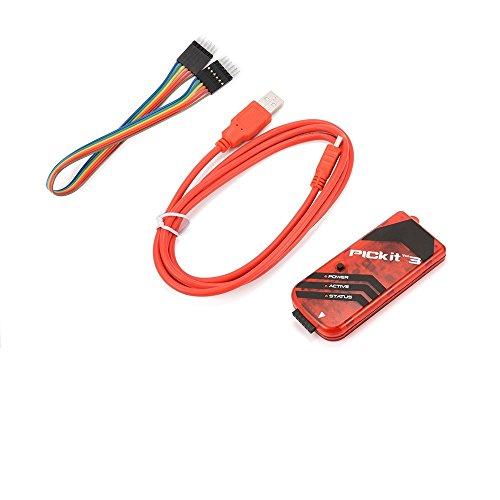 PICKIT3 PIC Kit3 Simulator PICKit 3 Programmer Emluator USB Kabel Dupond Draht (Pic Programmer Kit)