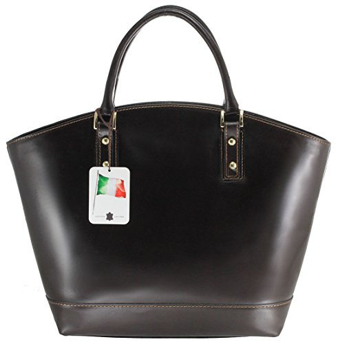 CTM Bag Ladies Classic Mode élégante, de style italien, 35x29x15cm, 100% cuir véritable Fabriqué en Italie