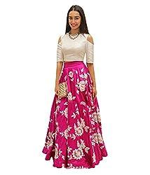 vaankosh fashion Women's Cotton Lehenga Choli (shraddha pink_pink _Free Size)